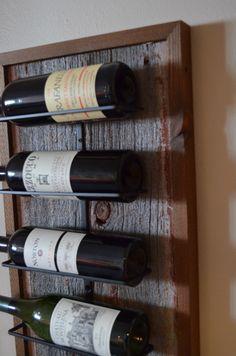 9 - bottle Barnwood Wine rack by WineStaveCrafts on Etsy https://www.etsy.com/listing/120288955/9-bottle-barnwood-wine-rack