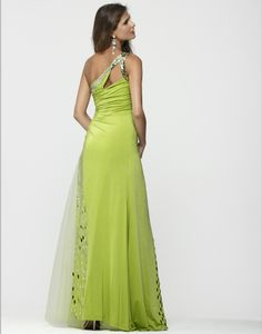 Clarisse 2013 Lime and Purple One Shoulder Sequin Stretch High Low Gown with Tulle 2146 | Promgirl.net