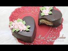I love petit fours but also have a thing for sharp lines and quick projects! These chocolate covered Mini Heart Cakes are a perfect substitution! Super quick...