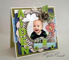 Kolorowe kartki na roczek.... ze zdjęciem i bez