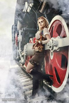 Captain Irachka Cosplay I'm so glad that I got to the first page on reddit.com *_* Thank you that you like my steampunk costume heart emoticon Photographer: Alexey Vododokhov #steampunk #steamgirl
