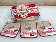 Super cute tin and cards