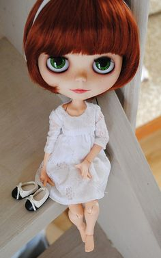 Mochi Blythe Full Custom By Me ^^ by Washikidolls by Miss H BuSy BuSY BUSY, via Flickr #blythe doll #blythe #doll