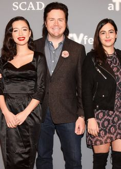 Christian Serratos, Josh Mcdermitt and Alanna Masterson at 'The Walking Dead' event during aTVfest 2016 in Atlanta on February 5, 2016