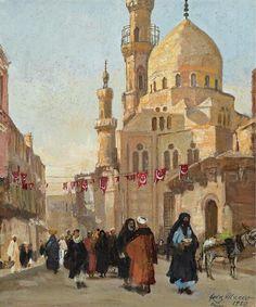Georg Macco (1863-1933) - Street in Cairo
