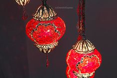 Red lovers will fall in love with that beautiful piece Turkish Lamps, Lovers, Ceiling Lights, Fall, Red, Beautiful, Home Decor, Autumn, Decoration Home