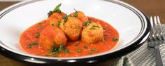 These meatballs use celery root to cut back on the calories & add delicious flavor!  Good reviews were given to M. Batali on the Chew.