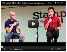 "Here is another opportunity to see Ben Silbermann discuss Pinterest. He sits down in Palo Alto at the Startup Grind bimonthly event. The San Jose Mercury news calls Pinterest, ""the hottest social network in Silicon Valley"".  Learn why…"