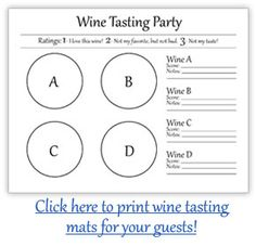 wine tasting sheet template - beer and wine tasting party inspiration from life by the