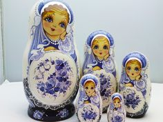 New matryoshka arrivals (original hand painted Russian Nesting Dolls.) www.matrioskas.es/en