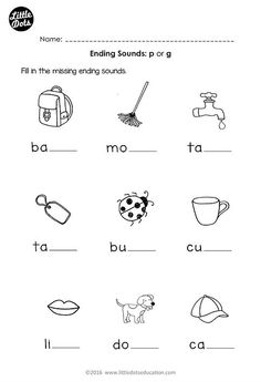 Ending sounds Worksheets Kindergarten Free Preschool Phonics Ending sounds P and G Worksheet for Preschool Phonics, Free Preschool, Preschool Printables, Preschool Worksheets, Phonics Games, Jolly Phonics, Teaching Phonics, Preschool Themes, Preschool Learning