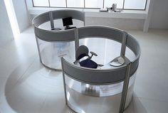 Unique glass office dividers partition screens