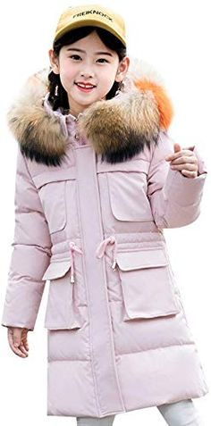 Dolwins Kids Girls Print Hooded Down Jacket Parka Thick Outwear Puffer Coat Snowsuit