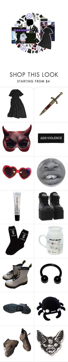 """""""#611"""" by s8tan ❤ liked on Polyvore featuring My Mum Made It, KING, Moschino, Pointer, Givenchy, Bobbi Brown Cosmetics, UNIF, Dr. Martens, Chanel and Killstar"""