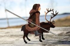 Evenk riding a reindeer - Mixed metal standing figure. Handmade by Tytti Bräysy /Paarma design https://www.facebook.com/Metalmorfosia