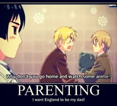 Japan, England and Sealand (dressed up as Canada) <-- Engwand, please be my father :""