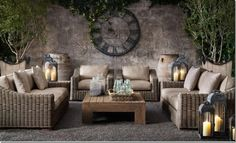 gray wicker Restoration Hardware