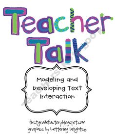 Teacher Talk: Modeling and Developing Text Interaction -- Again, more useful, perhaps, in an elementary or early adolescent setting. Although it isn't free, it may be worth the investment considering it addresses new CCSS requirements