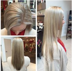 Wella hair! Base bump 9/16 kp and 20vol Highlights: blonder and 35 vol and 1/4oz of (B3) Bond Builder. Toner equal parts 10/36 and 10/69. Then at last, the Brazilian blowout split end mender