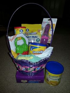 Inside my toddlers easter basket firetruck curious george and baby easter basket negle Images