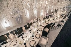 This evening was a romantic candlelit affair with a mix of ourQueen Dining Chairs Dubai Dining Chairs and Tokyo Dining Chairs. (Planner:@allureeventsatelier Design/Rentals: @revelryeventdesign Florist: @celiosdesign Photographer: @katiebeverleyphoto Lighting: @images_lighting Video: @ImpressiveCreations)