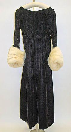 1963 to 65 Guy Laroche Evening dress Metropolitan Museum of Art, NY. See more vintage dresses at www.vintagefashionandart.com/dresses