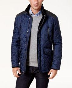 Cole Haan Men's Quilted Jacket - Black 2XL
