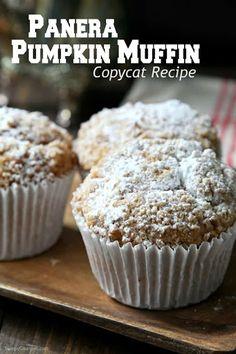 Panera Pumpkin Muffin Recipe, Pumpkin Spice Muffins, Pumpkin Recipes, Pumpkin Zucchini Muffins, Vegan Pumpkin, Pumpkin Bread, Simple Muffin Recipe, Muffin Tin Recipes, Gourmet