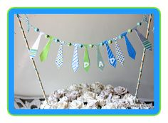 Fathers Day Tie Bunting Printable cake topper