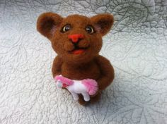 Needle Felted Baby Mouse Soft Sculpture of Mouse  by MyBuddyBling, $19.00
