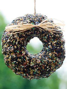 Festive bird seed hanger - HGTVGardens editor's picks for the ultimate holiday gift list. http://blog.hgtvgardens.com/holiday-gardening-gift-guide-hgtvgardens-picks/?soc=pinterest