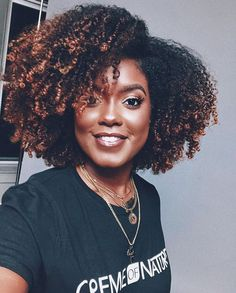 naturalhair curly brownhair afro blackbeauty slay naturalhairstyles naturalhairinspiration curlybraids is part of Curly hair styles - Natural Hair Highlights, Natural Hair Growth Tips, Tapered Natural Hair, Natural Hair Braids, Long Natural Hair, Natural Hair Styles, Braided Hair, Thick Hair, Color On Natural Hair