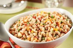 Pasta Side Salad Made Over recipe - We cut the fat—but not the creamy, delicious flavor—from our favorite pasta side salad.