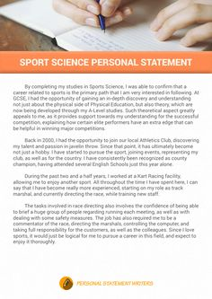 Personal statement advice: sports science