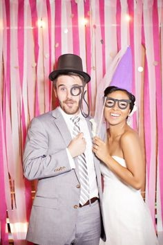fun photo booth with props