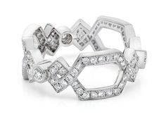 Ivanka Trump ring in 18k white gold with diamonds