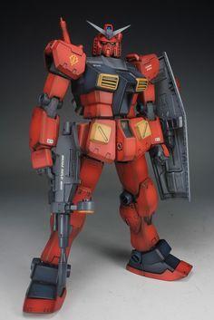 MG 1/100 RX-78 Gundam 'Red Blitz' Johnny Ridden Custom -