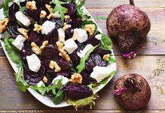 Red beet balsamico salad pieczone buraczki