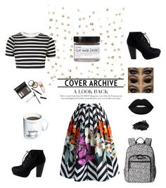"""""""Work from Home """" by moonlightsilhouette ❤ liked on Polyvore featuring Chicwish, Topshop, Vera Bradley, Fig+Yarrow, Borghese, Urban Decay and Gift Republic"""