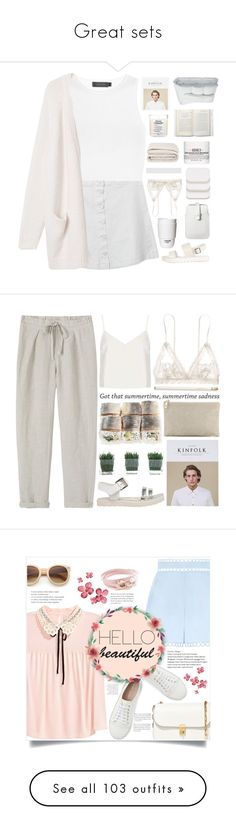 """""""Great sets"""" by rose0810-1 ❤ liked on Polyvore featuring Calvin Klein Collection, Monki, Mossimo, ROOM COPENHAGEN, Hanky Panky, COVERGIRL, Kinfolk, Maison Margiela, Frette and Kiehl's"""