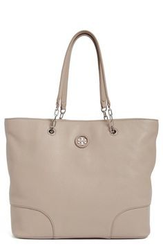 aab741bab8a5 Tory Burch Pebbled Leather Tote (Nordstrom Exclusive) available at   Nordstrom Neutral Tote Bags