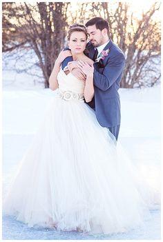 Lazaro Style 3108 / Colors of the Year   Winter Wedding Inspiration   Joy Wed http://www.joy-wed.com