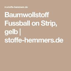 Baumwollstoff Fussball on Strip, gelb | stoffe-hemmers.de
