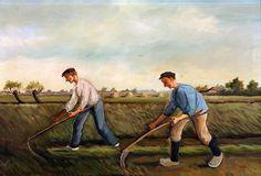 Zo werd er vroeger op het land gewerkt. Vriezenveen. Nederland. Holland, Painting, The Nederlands, Painting Art, The Netherlands, Paintings, Netherlands, Painted Canvas, Drawings