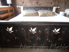 Bed with cut design