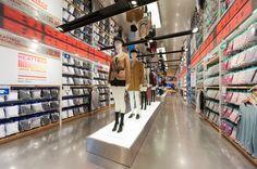 """Now Trending: Visual Merchandising"" by Tara Mangiero Visual Merchandising, Store Design, Uniqlo, New York City, Photo Wall, Around The Worlds, Design Inspiration, Places, Interior"
