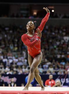 Simone Biles is in Rio for the Summer Olympic Games and pegged to bring home the gold for the women's gymnastics team. Get to know the pint-sized powerhouse and what makes her tick! American Athletes, Female Athletes, Rio Olympics 2016, Summer Olympics, Brave, Gymnastics Team, Gymnastics Poses, Gymnastics Photography, Simone Biles