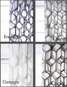 Custom Modern Arch Trellis Sheer Drapes by avecdieu on Etsy