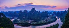 Morning, Li River - Xianggong Shan, Guilin, China Photo by Jay Z