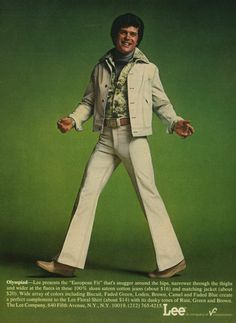 in the mid 70s the leisure suit grew as popular business/recreational wear for men and women. discos were full of men wearing these